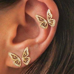 Bohemian Crystal Buttefly Earrings